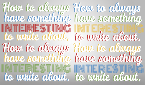 how to write something interesting