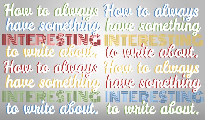 how to write something interesting