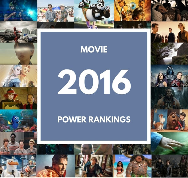 2016 movie power rankings
